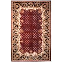 Safavieh Handmade Naples Burgundy Wool Rug - 5' x 8'