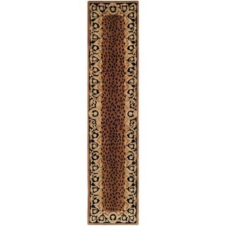 Safavieh Handmade Naples Black/ Gold Wool Rug (2'6 x 12')