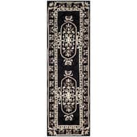 Safavieh Handmade Naples Black Wool Rug - 2'3 x 10'
