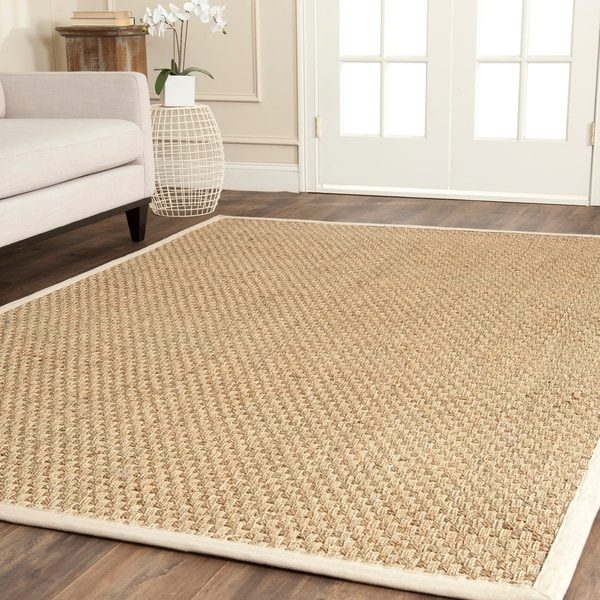 Safavieh Casual Natural Fiber And Ivory Border Seagr Rug 8 X27