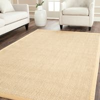 Safavieh Casual Natural Fiber Maize / Wheat Sisal Rug (10' x 14')