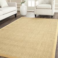 Safavieh Casual Natural Fiber Maize / Wheat Sisal Rug - 10' x 10' square