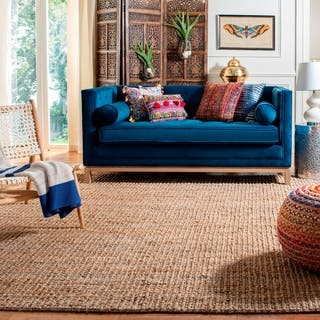 Safavieh Casual Natural Fiber Hand-Woven Natural Accents Chunky Thick Jute Rug (10' Square)|https://ak1.ostkcdn.com/images/products/8386357/P15689766.jpg?impolicy=medium