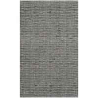 Safavieh Casual Natural Fiber Hand-Woven Light Grey Chunky Thick Jute Rug - 2'6 x 4'