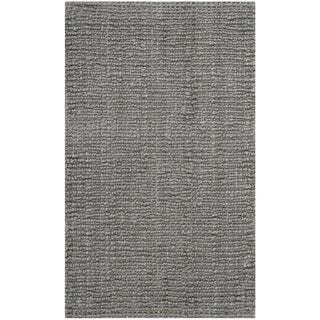 "Safavieh Casual Natural Fiber Hand-Woven Light Grey Chunky Thick Jute Rug - 2'6"" x 4'"