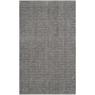 Safavieh Casual Natural Fiber Hand Woven Light Grey Chunky Thick Jute Rug 2
