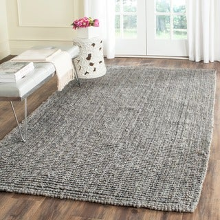 Safavieh Casual Natural Fiber Hand-Woven Light Grey Chunky Thick Jute Rug (3' x 5')
