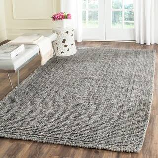 Safavieh Casual Natural Fiber Hand-Woven Light Grey Chunky Thick Jute Rug (3' x 5')|https://ak1.ostkcdn.com/images/products/8386365/P15689773.jpg?impolicy=medium