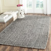 Safavieh Casual Natural Fiber Hand-Woven Light Grey Chunky Thick Jute Rug - 3' x 5'