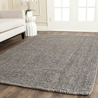 Safavieh Casual Natural Fiber Hand-Woven Light Grey Chunky Thick Jute Rug - 4' x 6'