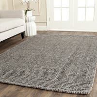 Safavieh Handmade Natural Fiber Barbados Chunky Thick Light Grey Jute Rug - 4' x 6'