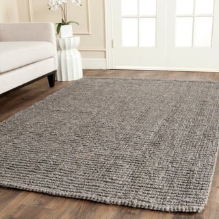 Safavieh Casual Natural Fiber Hand-Woven Light Grey Chunky Thick Jute Rug (6' Square)|https://ak1.ostkcdn.com/images/products/8386369/P15689777.jpg?impolicy=medium