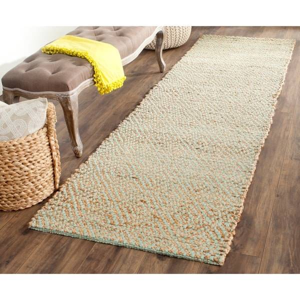 Safavieh Casual Natural Fiber Hand Woven Natural Green