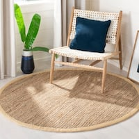 Safavieh Casual Natural Fiber Hand-loomed Natural Jute Rug - 5' x 5' round