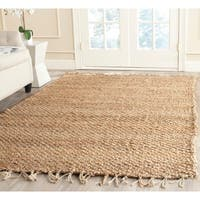 Safavieh Casual Natural Fiber Hand-loomed Natural Jute Rug (4' Round)