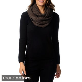 Ply Cashmere Women's Ribbed Infinity Scarf