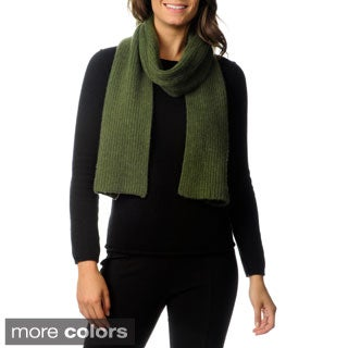 Ply Cashmere Chunky Rib Scarf