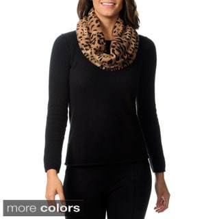 Ply Cashmere Cheetah Snood Scarf