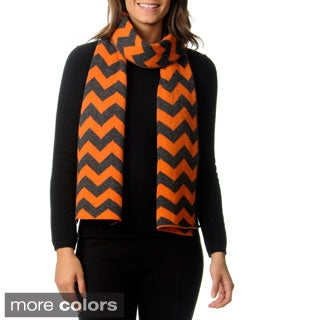 Ply Cashmere Chevron Knit Scarf