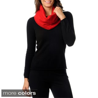 Ply Cashmere Double Layer Contrast Snood Scarf