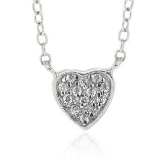 Molly and Emma Sterling Silver Children's CZ Heart Necklace