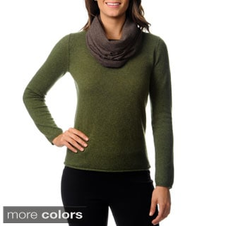 Ply Cashmere Women's Fine Gauge Snood Scarf