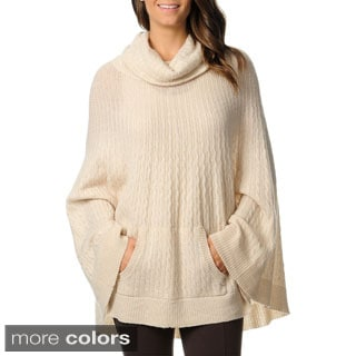 Ply Cashmere Women's Cowl Neck Poncho