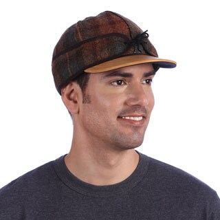 Stormy Kromer Plaid Leather Brim Cap