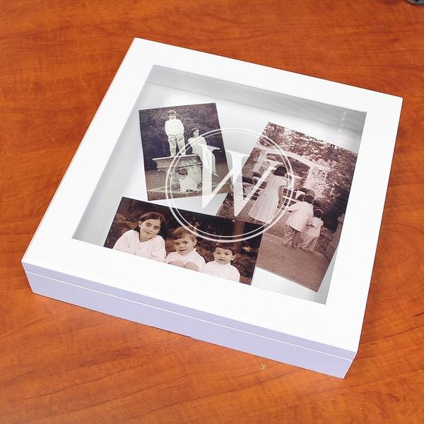 Personalized White Coffee Table Keepsake Box