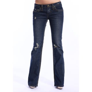 Stitch's Women's Thund Dark Wash Jeans (As Is Item)