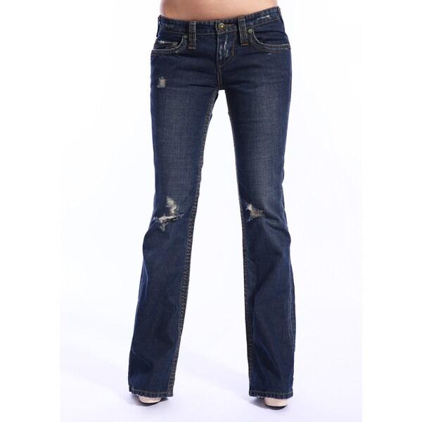 Stitch's Women's Thund Dark Wash Jeans