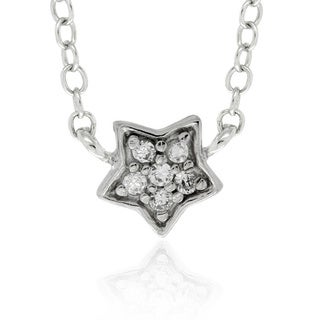 Molly and Emma Sterling Silver Children's CZ Star Necklace