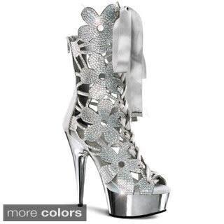 Pleaser Women's 'Delight-600-36' Rhinestone Floral Platform Heels|https://ak1.ostkcdn.com/images/products/8386671/P15690067.jpg?impolicy=medium