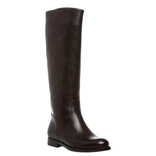 Prada Women's 'Prestige' Black Calf Leather Knee-high Boots