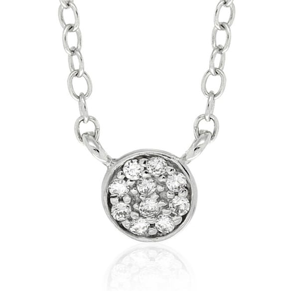Molly and Emma Sterling Silver Children's CZ Circle Necklace