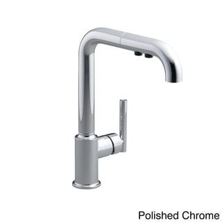 """Link to Kohler Purist Single-Hole Kitchen Sink Faucet with 8"""" Pull-Out Spout Similar Items in Faucets"""