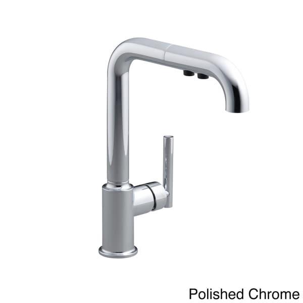 Shop Kohler Purist Primary Single Hole Kitchen Sink Faucet Spout