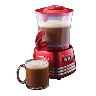 Nostalgia HCM700RETRORED Retro Series 32 oz. Hot Chocolate Maker with Easy Pour Spigot