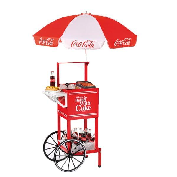 Nostalgia Electrics Coca-Cola Series Hot Dog Party Cart