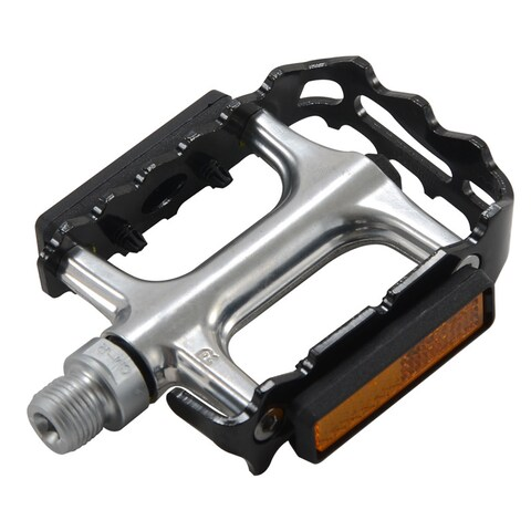 Alloy Black/ Chrome Bike Pedals (Set of 2)
