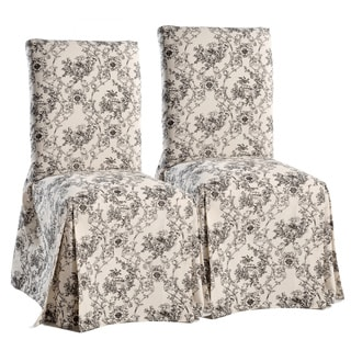 black dining chair covers. Classic Slipcovers Toile Dining Chair (Set Of 2) Black Covers