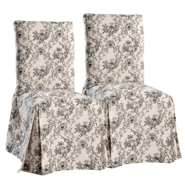 classic slipcovers toile dining chair slipcovers set of 2