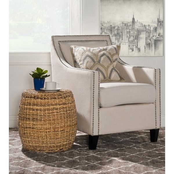 Mobbi Natural Rattan Round End Table by Kosas Home. Opens flyout.