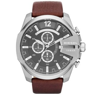Diesel Men's DZ4290 Brown Leather Strap Watch