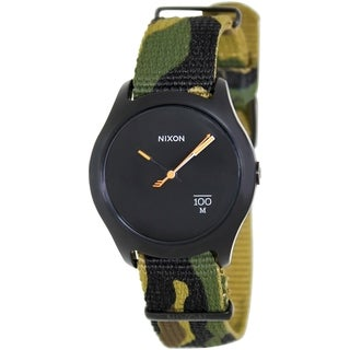 Nixon Men's 'Quad' A3441253 Camouflage Strap Watch