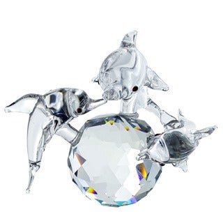 Crystal Florida Crystal Dolphin Family on Ball