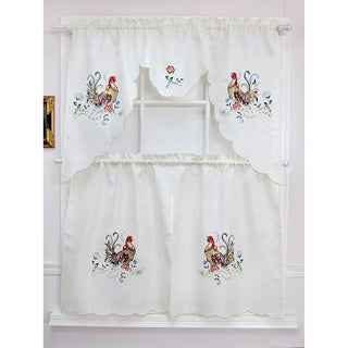 Rooster Sunrise Tiered Curtain Sets