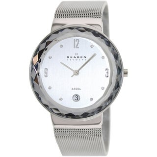 Skagen Women's Classic Silver Steel and Silver Dial Quartz Watch