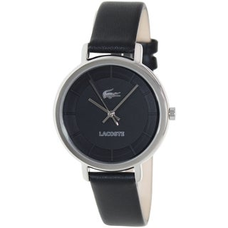 Lacoste Women's Sienna Black Leather and Black Dial Quartz Watch