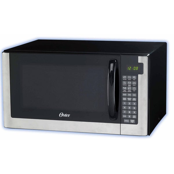 Oster Black Stainless Steel 1 4 Cubic Foot Digital Microwave Oven